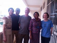 The Ghana Cassava team, Whit Alexander, and Professor Oduro from KNUST