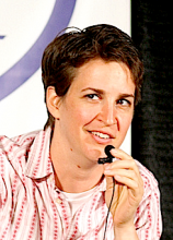 From http://en.wikipedia.org/wiki/File:Rachel_Maddow_in_Seattle_cropped.png
